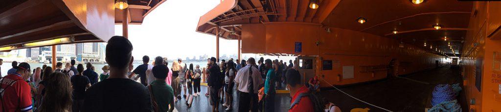 aboard the Staten Island Ferry