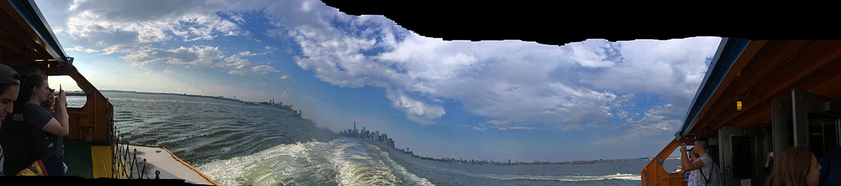 view from the Staten Island Ferry