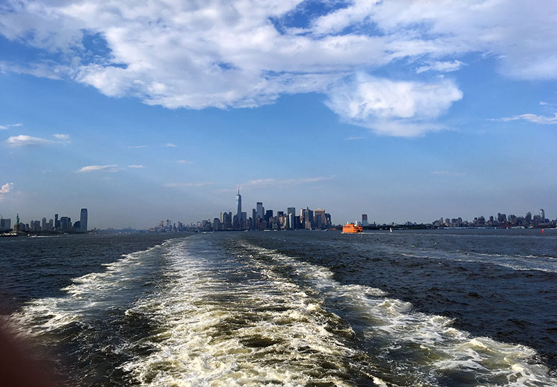 rear deck of the Staten Island Ferry