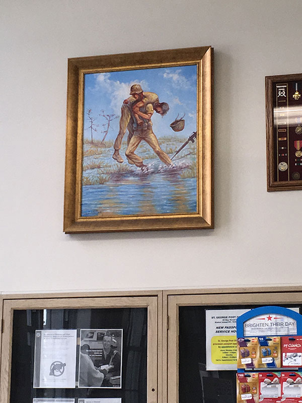 Painting at the US Post Office, St. George, Staten Island