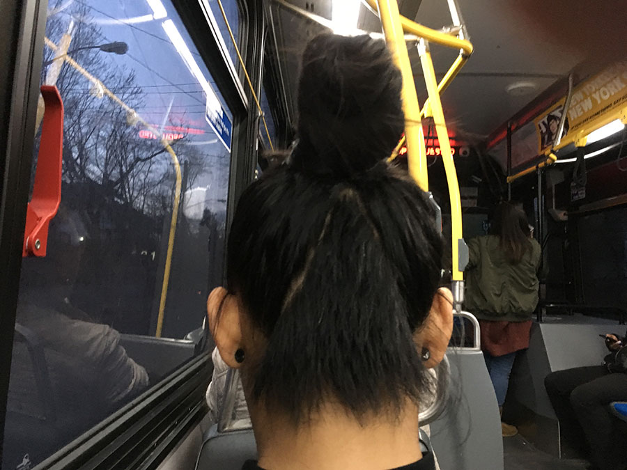 haircut from the S52 bus, Staten Island