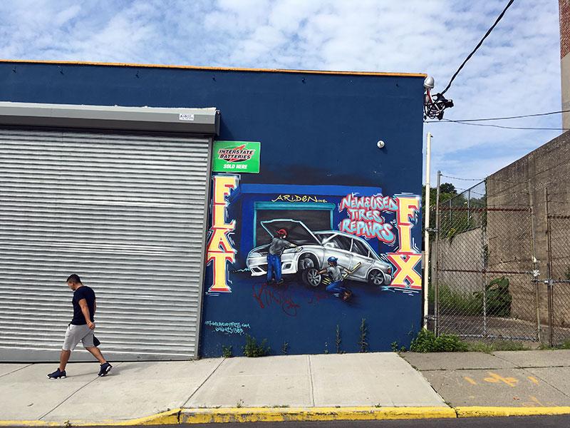 Car detailing shop, Van Duzer Street
