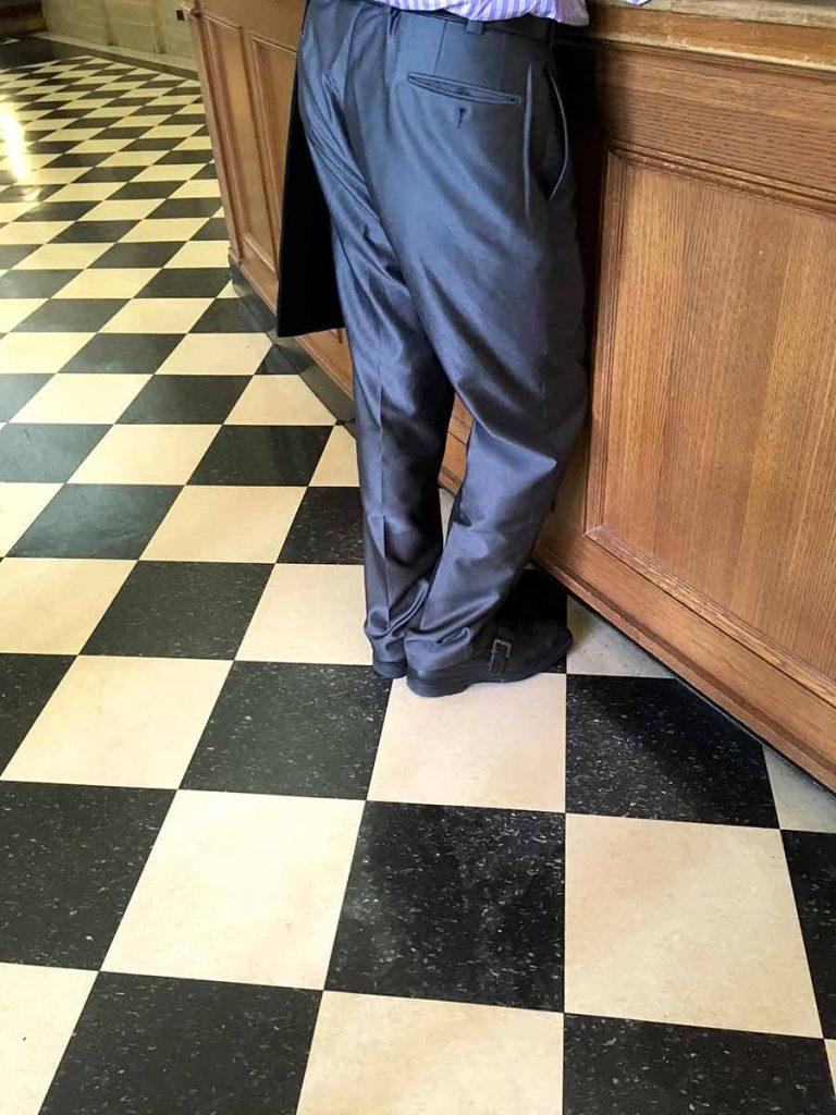 The professor's pants. Columbia University, Butler Library