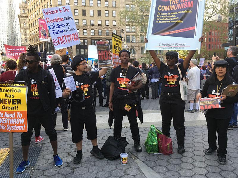 protestors, May Day, NYC