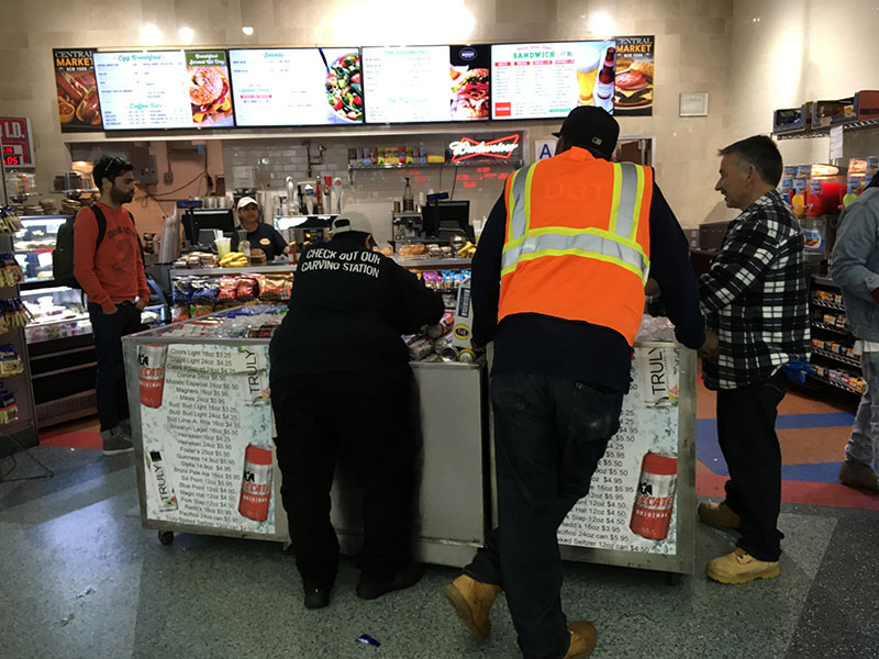 Food stall at Whitehall Terminal