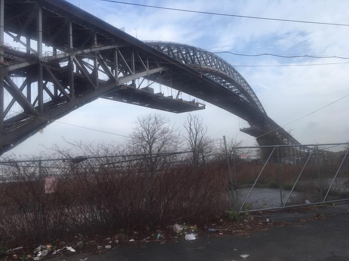 Bayonne Bridge under renovation
