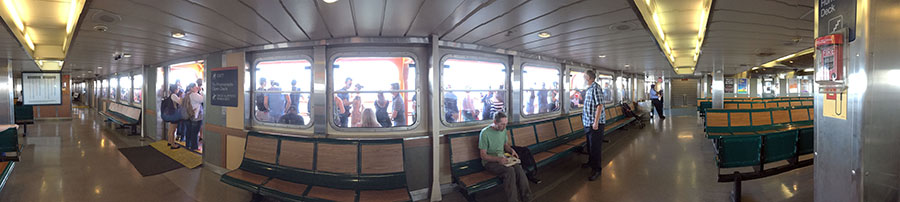 summer day on the Staten Island Ferry