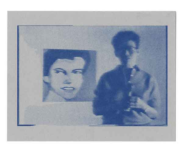 postcard of video still from Gay Tape: Butch and Femme by Cecilia Dougherty
