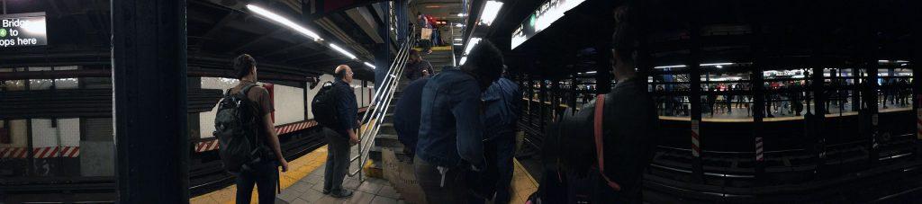 NYC subway scene